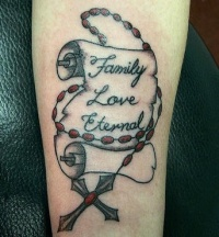 rosary tattoo picture